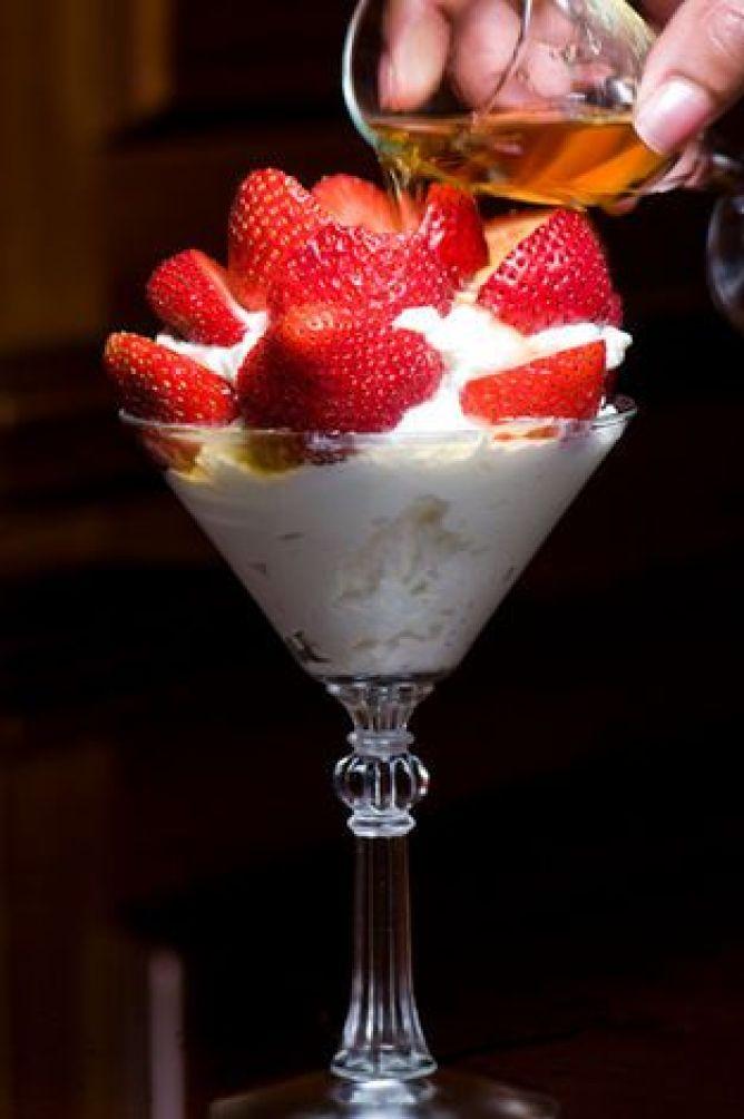 Fresh Strawberries, Whipped Cream, and Grand Marnier