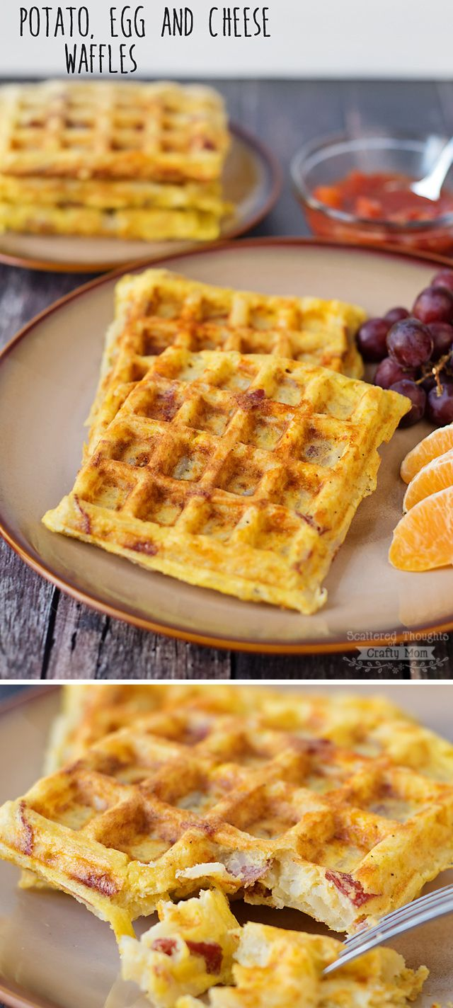 Breakfast for dinner anyone? These Potato, Egg and Cheese Waffles are a must try… so yummy (and ridiculo