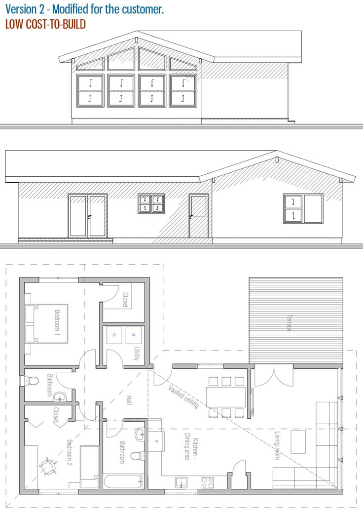55 best images about House plans. 2 bedrooms, 2 bathrooms