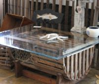 Re-purposed Lobster Trap Coffee Table, Note: I wouldn't ...