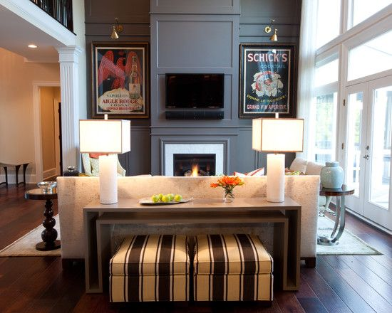 Image Result For Long Console Table Behind Couch