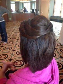 Half Up Half Down Short Hair Updo Wedding Hair Bridesmaids