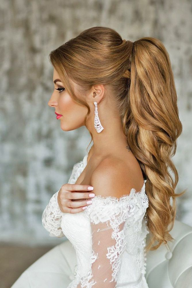 25 Best Ideas About Wedding Ponytail Hairstyles On Pinterest