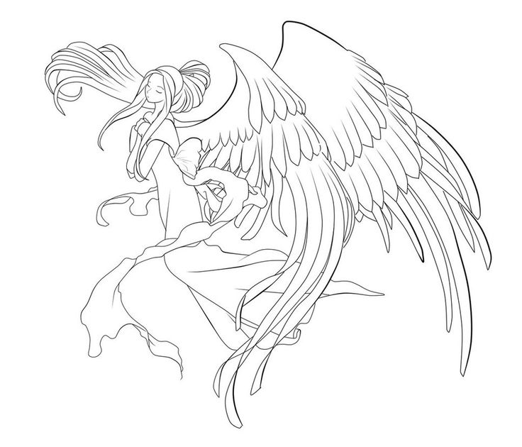 428 best images about LineArt: Angels on Pinterest