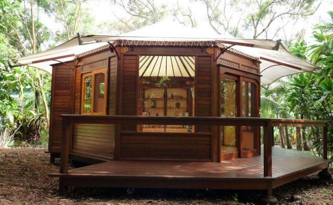 Mandala Homes Deluxe Wooden Octagon Yurt 200 Sq Ft Of