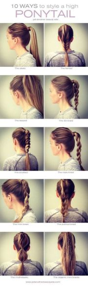 easy ways style high pony