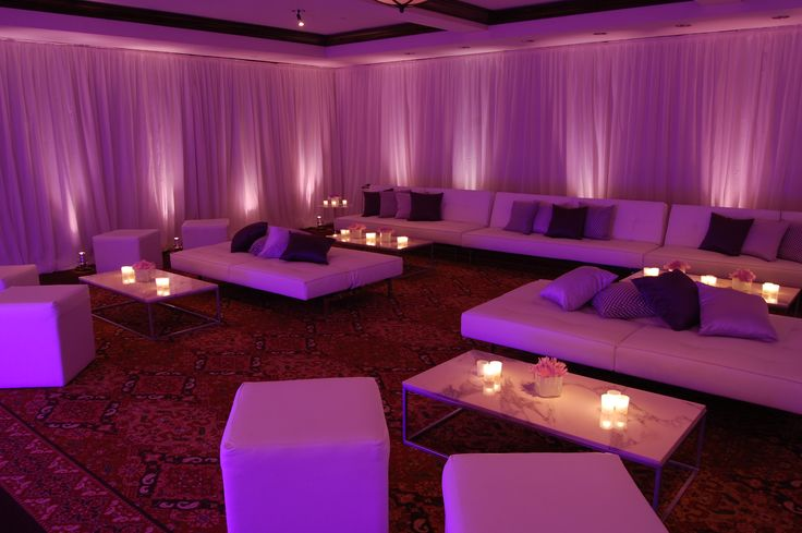 after party loungeup lighting in the cafeteria  Rock the Night  Pinterest  Fabric covered