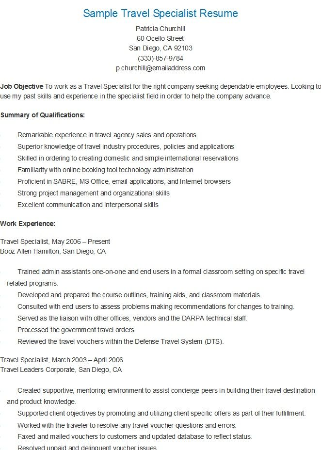 sample resume for training and development specialist