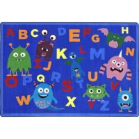 Monster Mash Alphabet Classroom Rug 7'8 x 10'9 | Classroom ...