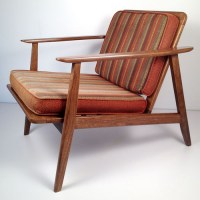 Vintage Mid Century Danish Modern Wooden Lounge Chair