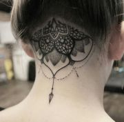 ideas nape tattoo