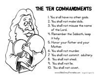 Bible: 10 commandments 4 kids: 10+ handpicked ideas to