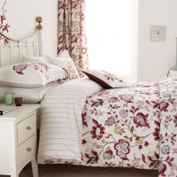 Red Floral Bedding | Sanderson Roslyn Bed Linen at Bedeck ...