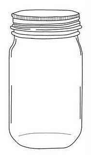 Lightning Bugs In Mason Jar Coloring Page Coloring Pages
