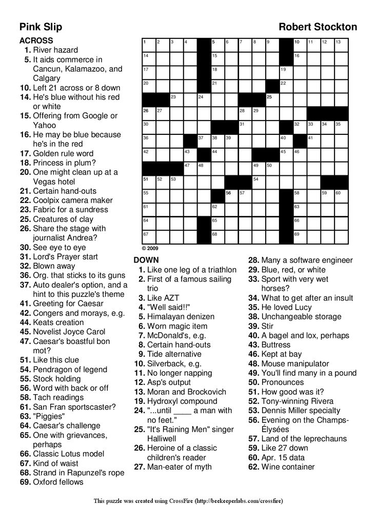 23 best images about Crossword Puzzles on Pinterest