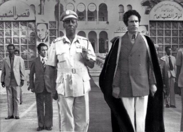 Image result for mohamed siad barre with gaddafi