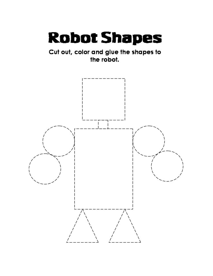 ESL Kid Stuff: robot shapes robotshapessheet.gif (816×1056