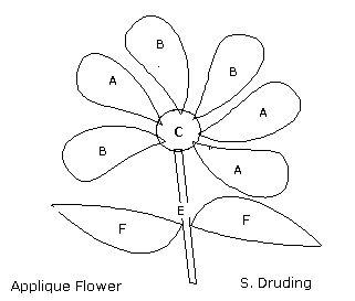 17 Best images about Applique Blocks- Flowers 2 on