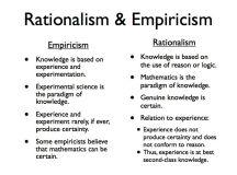 Empiricism & Rationalism | Philosophy - British Empiricism ...