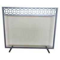 Threshold Geometric Fireplace Screen - Antique Iron ...