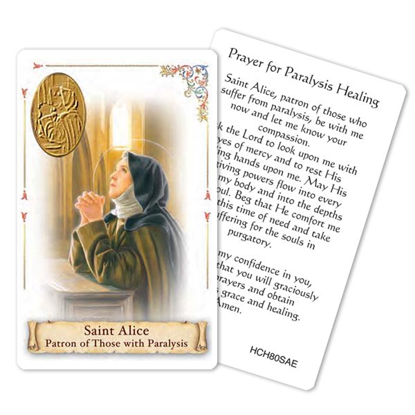 Prayer To St Alice For Paralysis Healing Laminated Holy