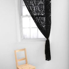 Cute Curtains For Living Room How To Decorate A With Black Leather Sectional Lace Curtains! Damask Velvet Burnout | Home ...