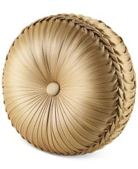 J Queen New York Napoleon Gold Tufted Round Decorative ...