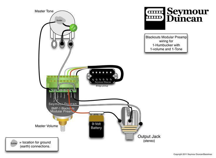 active pickup wiring diagram bass