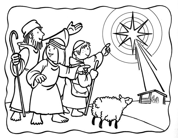 17+ best ideas about Nativity Coloring Pages on Pinterest
