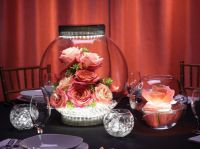 magical rose centerpiece with LED lights | Bubble Bowls ...