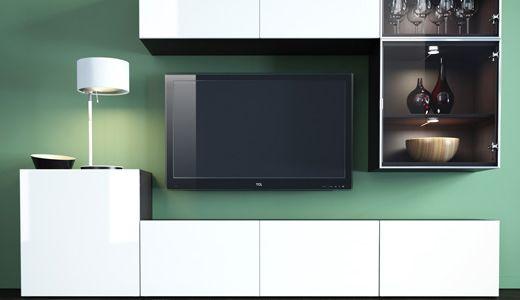 kitchen wall shelving units white cabinets glass doors ikea Österreich, bestÅ/framstÅ/inreda system | ...