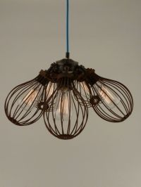 Image of maria | steampunk | pendant light | rusty cages ...