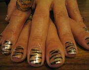 black and gold nail design - bing