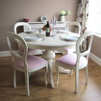 Shabby Chic French dining table and chairs.