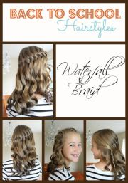school hairstyles - waterfall