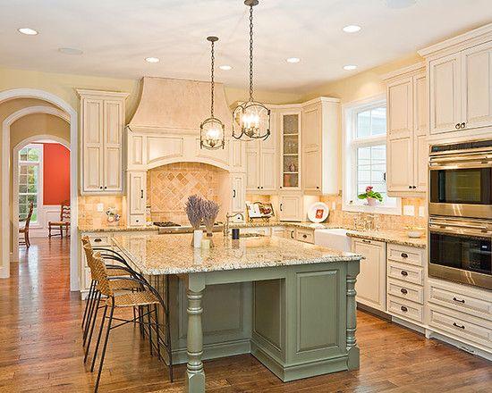 Bright Home Kitchens Interior Decor Idea With Sage Green