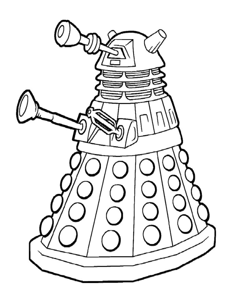 17 Best images about Coloring Pages/LineArt Doctor Who on