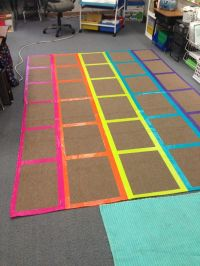 DIY classroom management rug. I used different color duct ...