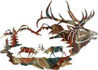 "30"" Elk in Wilderness Wall Art www.rusticeditions.com ..."