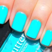 vibrant turquoise nails butter