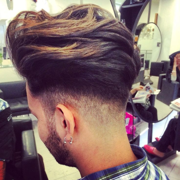 New Barber Corte Degradado De Nuca Afeitada A Flequillo