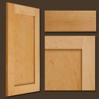 photos natural maple shaker style cabinet doors with solid ...