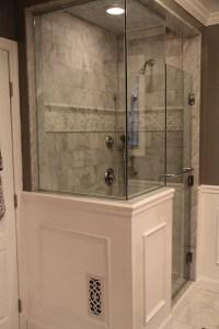 Created by Tina - 6x6 carrara marble; border is pillowed ...