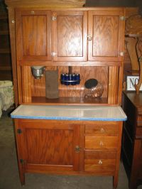 Antique Bakers Cabinet | OAK HOOSIER KITCHEN CABINET ...