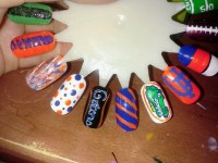 Florida gator nails (hand painted by me @Kayla Nelson