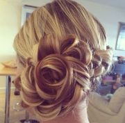 rose hair bun wedding