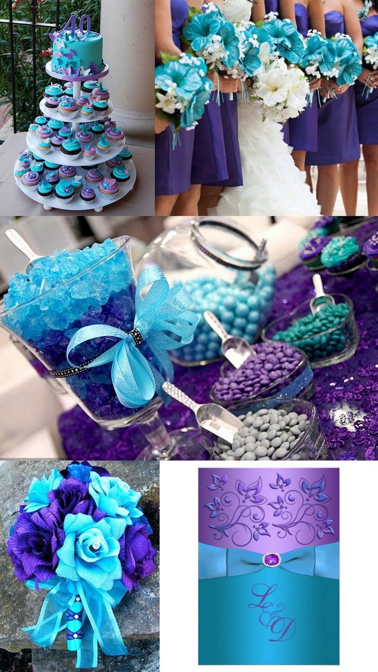 25 best ideas about Purple Turquoise Weddings on Pinterest  Blue purple wedding Purple teal