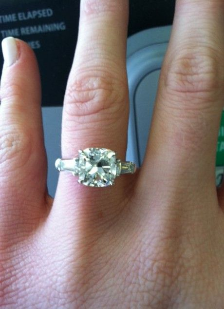 Cushion Cut With Baguette Side Stones My Future Husband