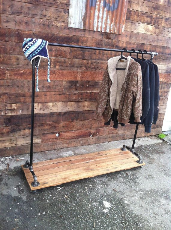 Industrial Cast Iron Pipe Clothing Rack  House