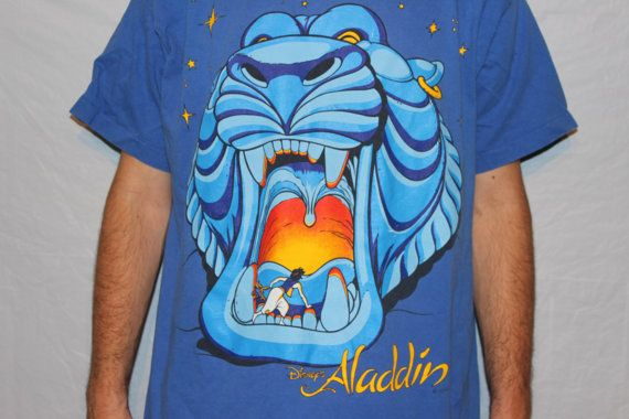 Vintage Disneys Aladdin Cave of Wonders TShirt  Disney   Pinterest  Disney Aladdin and